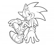 Coloriage Super Sonic 35