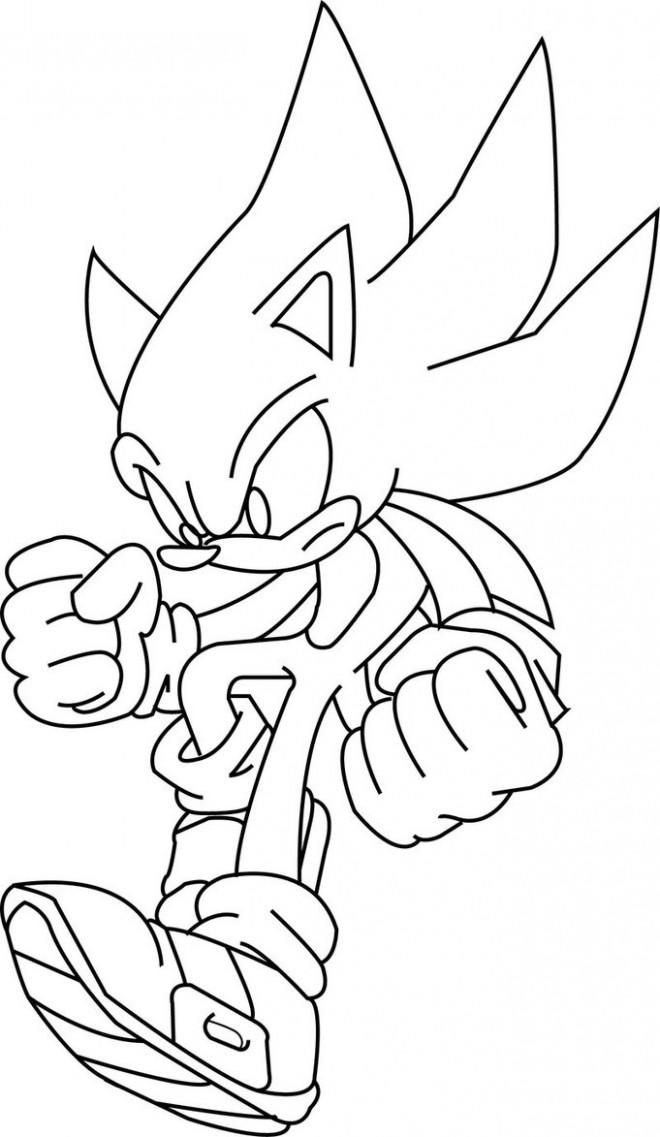 Coloriage et dessins gratuits Super Sonic 4 à imprimer