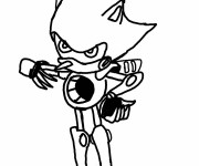 Coloriage Super Sonic 40