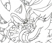 Coloriage Super Sonic 43