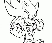 Coloriage Super Sonic 44