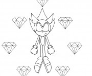 Coloriage Super Sonic 45