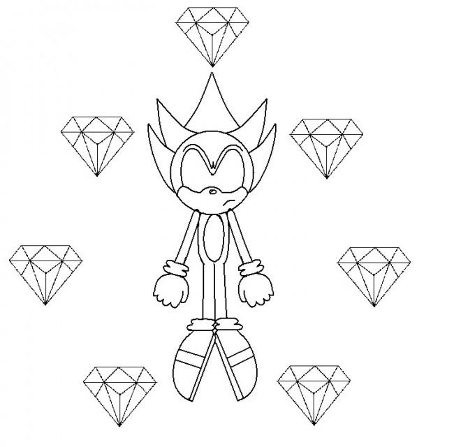 Coloriage Super Sonic 45 dessin gratuit à imprimer