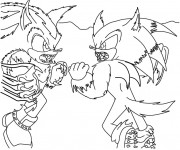 Coloriage Super Sonic 46