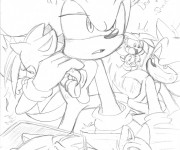 Coloriage Super Sonic 47