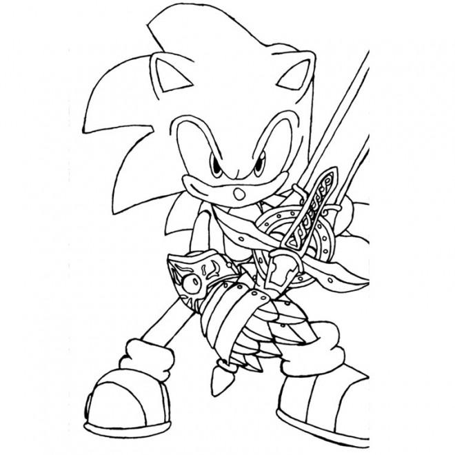 Coloriage Super Sonic 6 Dessin Gratuit A Imprimer