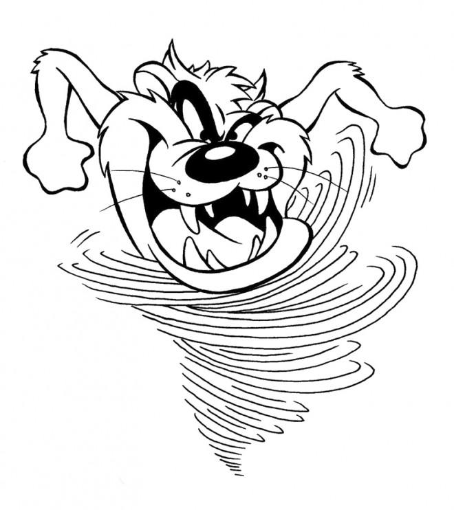Coloriage et dessins gratuits Taz court très rapidement drôle à imprimer