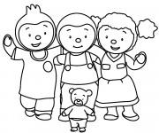 Coloriage Tchoupi et sa famille en ligne