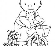 Coloriage Tchoupi sur son vélo