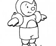 Coloriage Enfant Tchoupi dessin animé