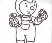 Coloriage Tchoupi dessin animé