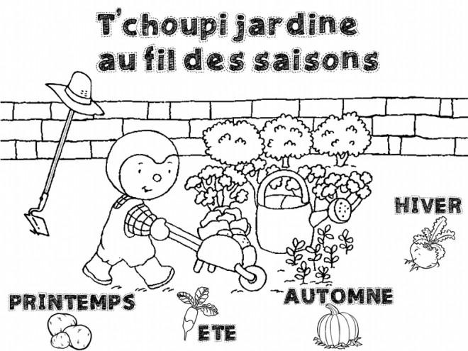 Coloriage tchoupi jardine en fran ais dessin gratuit - Telecharger tchoupi gratuit ...