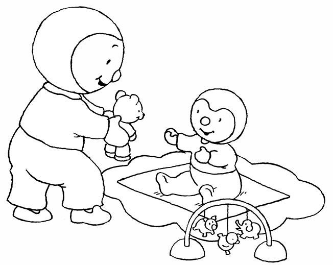 Coloriage tchoupi joue avec papa toine dessin gratuit imprimer - Dessin de tchoupi ...