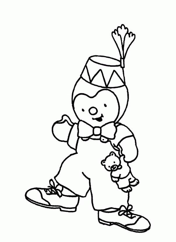 Coloriage tchoupi porte un chapeau dessin dessin gratuit imprimer - Tchoupi tchoupi ...