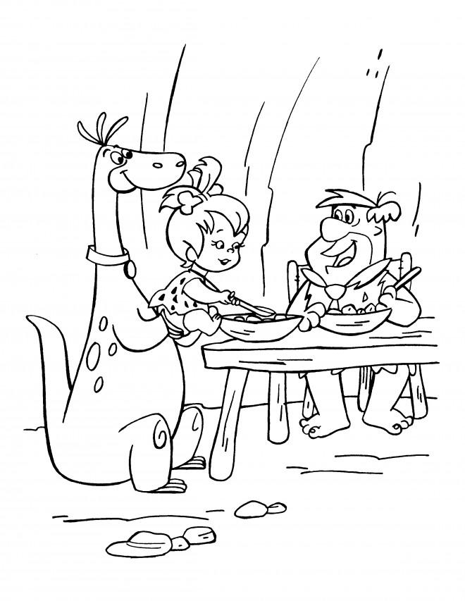 Coloriage et dessins gratuits The Flintstones 52 à imprimer