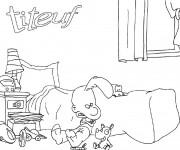 Coloriage et dessins gratuit Titeuf dans sa chambre à imprimer