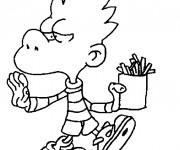 Coloriage Titeuf dessin animé