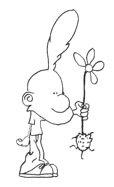 Coloriage et dessins gratuits Titeuf et la fleure à imprimer
