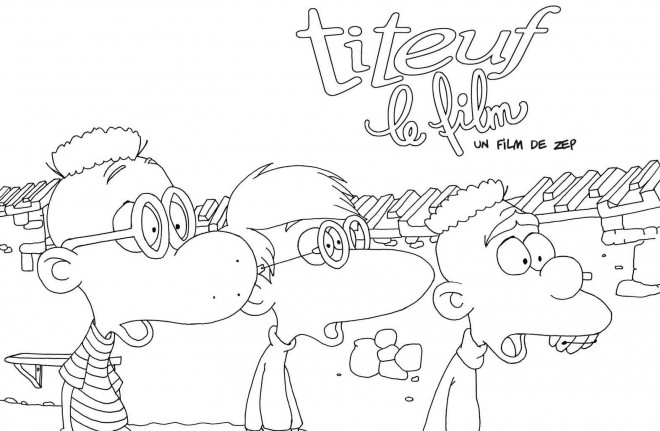 Coloriage et dessins gratuits Titeuf et ses amis à imprimer