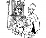 Coloriage Titi et Grosminet Looney Toons