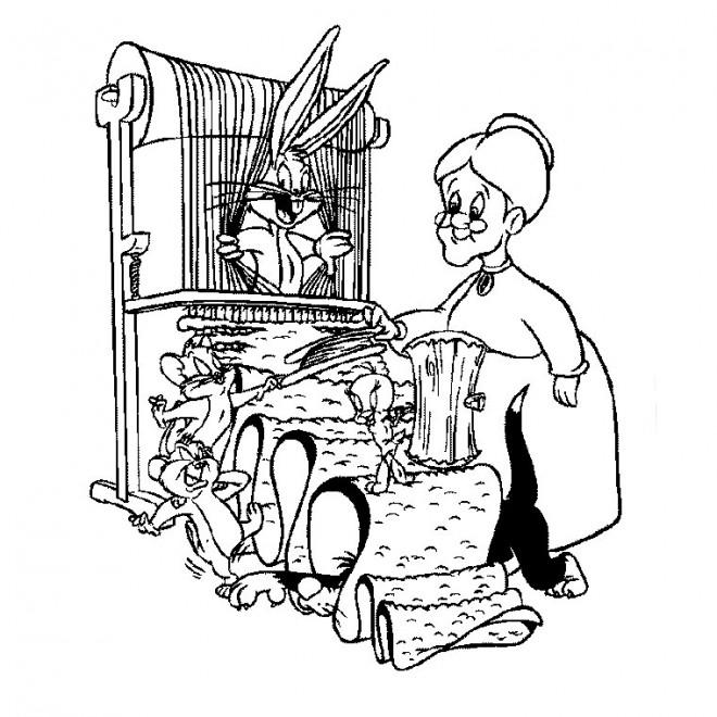 Coloriage et dessins gratuits Titi et Grosminet Looney Toons à imprimer