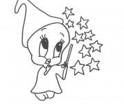 Coloriage Titi la magicien