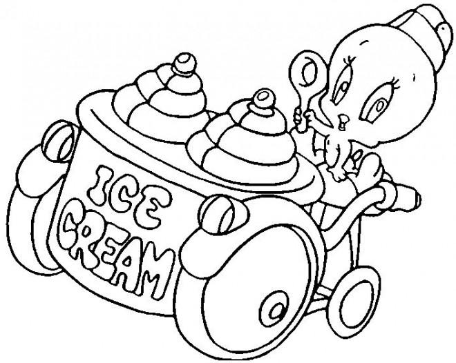 Coloriage et dessins gratuits Titi Vend de la glace à imprimer