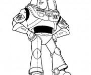Coloriage Buzz l'Éclair en toute fierté dessin
