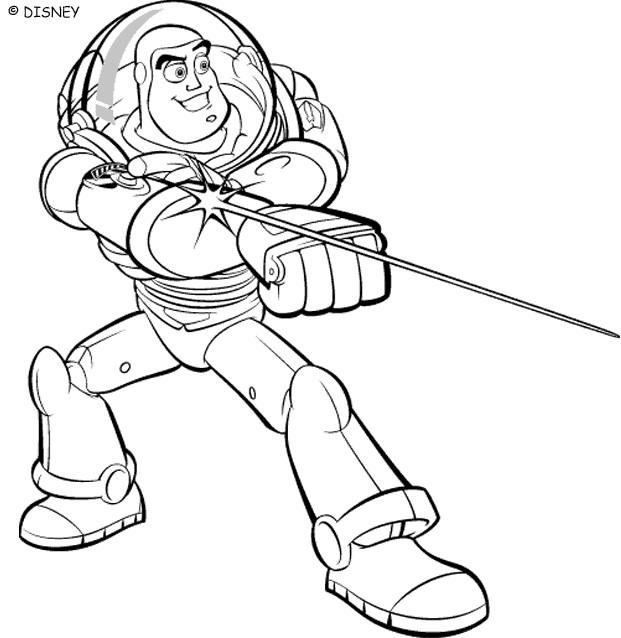 Coloriage et dessins gratuits Buzz l'Eclair magique à imprimer