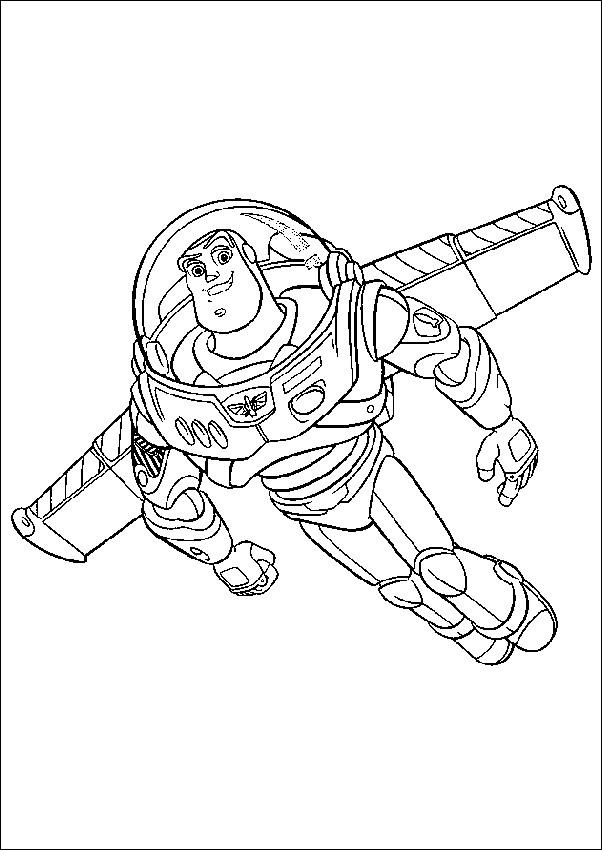 Coloriage et dessins gratuits Buzz l'Eclair magique cartoon à imprimer