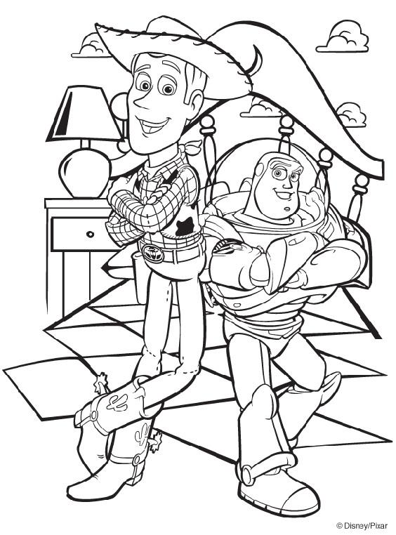 Coloriage et dessins gratuits Image Toy Story Woody et Buzz l'Eclair à imprimer
