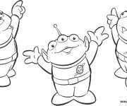 Coloriage Les aliens de Toy Story dessin animé