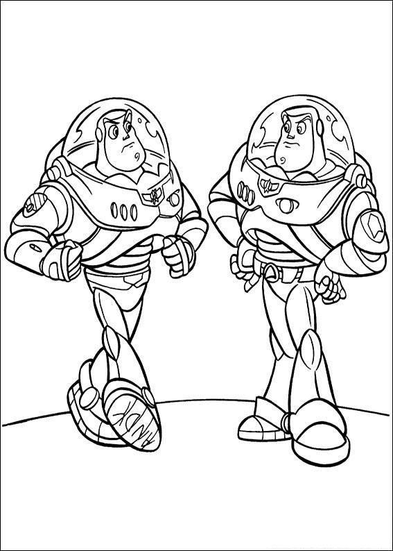 Coloriage et dessins gratuits Les  jumeaux de Buzz l'Éclair disney à imprimer