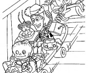 Coloriage Personnages de Toy Story jouent disney cartoon