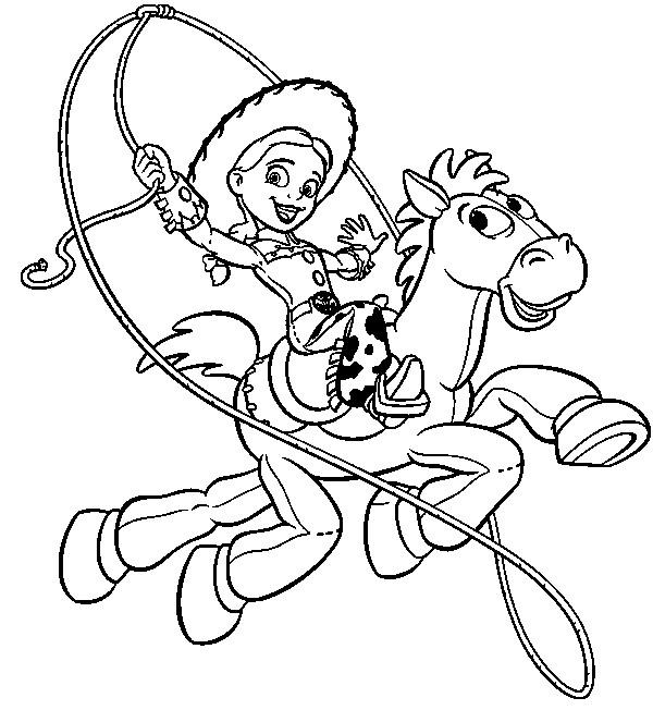 Coloriage et dessins gratuits Pile-Poil et Jessie font le show image à imprimer