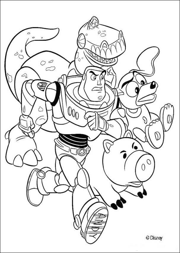 Coloriage Toy Story Personnages En Ligne Dessin Gratuit à Imprimer