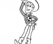 Coloriage Toy Story Woody en couleur
