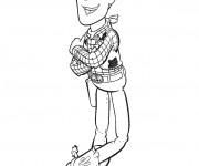 Coloriage Woody en croisant les bras