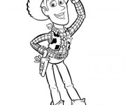 Coloriage Woody en saluant cartoon
