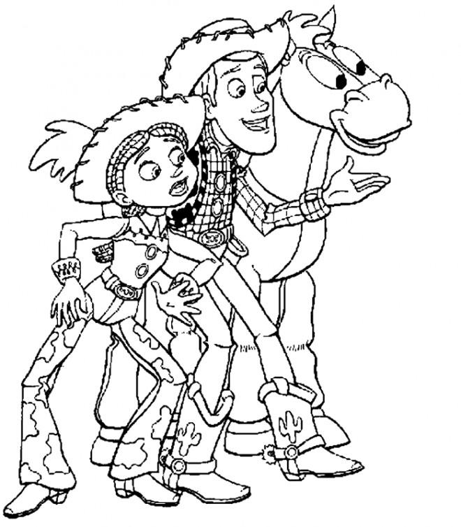 Coloriage Woody Et Jessie Toy Story Dessin Gratuit à Imprimer
