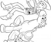 Coloriage Woody et Pile-Poil dessin animé