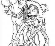 Coloriage Woody le Cowboy en ligne