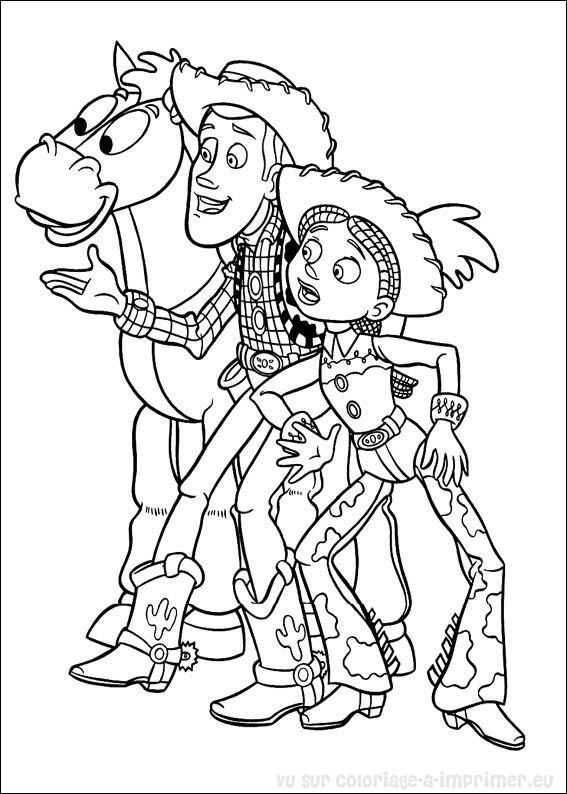 Coloriage Woody Le Cowboy En Ligne Dessin Gratuit A Imprimer