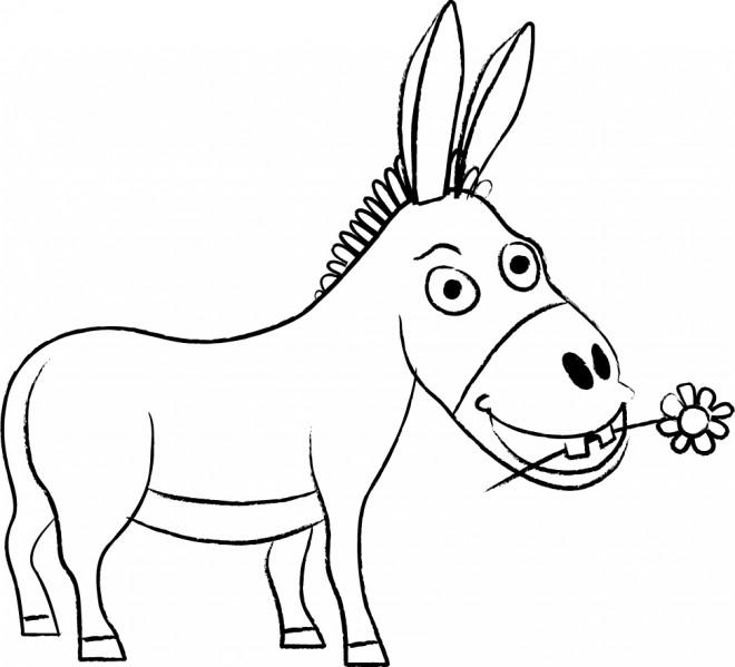 Coloriage âne Trotro Dessin Gratuit à Imprimer