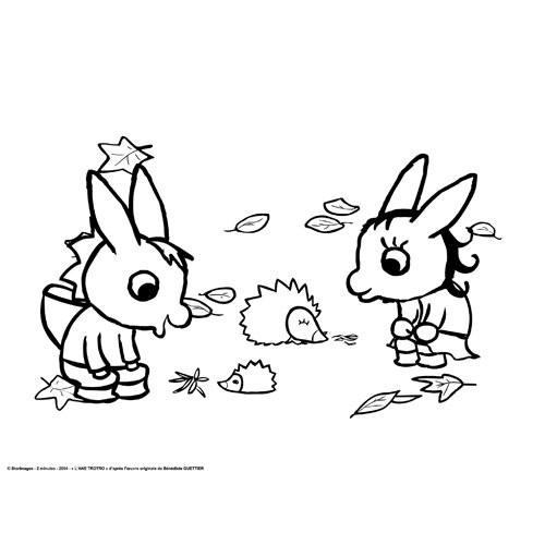Coloriage trotro et nana dessin gratuit imprimer - Trotro et noel ...