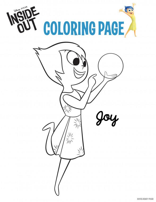 Coloriage et dessins gratuits Joie Vice Versa à imprimer