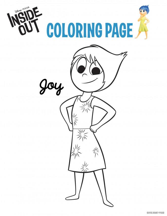 Coloriage et dessins gratuits Vice Versa Joie en ligne à imprimer