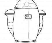 Coloriage Dessin GO-4 Robot