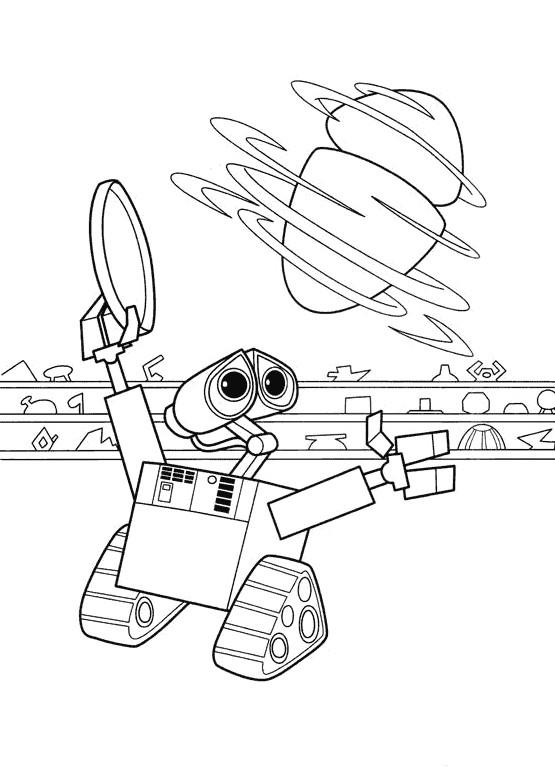 Coloriage et dessins gratuits Dessin MVR-A tourne devant Wall-E à imprimer