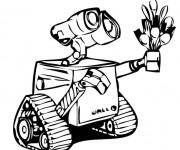 Coloriage et dessins gratuit Dessin Wall-E 21 porte ses fourchettes à imprimer